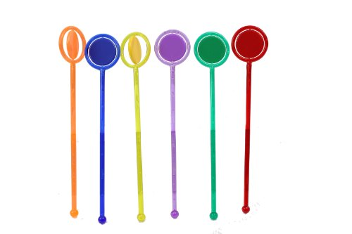 Spinning Disc Swizzle Sticks - Pack of 40 | Drink