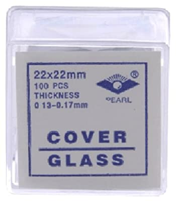 22x22 mm Glass Microscope Slide Coverslips Pk100 #1 by American Educational Products