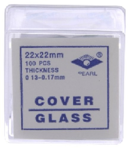 22X22 Mm Glass Microscope Slide Coverslips Pk100 #1