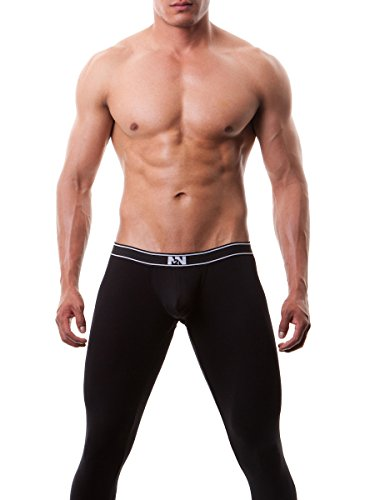 N2N Bodywear Classic Cotton Long John UN9 (Large, Black) (Mens Thermal Leggins compare prices)