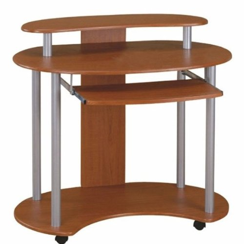 Buy Low Price Comfortable Contemporary Walnut Computer Cart (Walnut) (33″H x 36″W x 25″D) (B003SA32SQ)