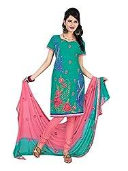 Vatsal Silk Mills Unstitched Dress Material for Women Sea Green