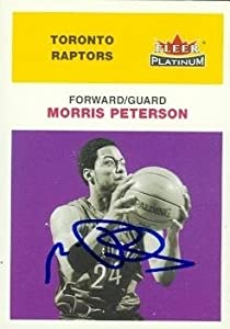 Morris Peterson Autographed Hand Signed Basketball Card (Toronto Raptors) 2001 Fleer... by Hall of Fame Memorabilia