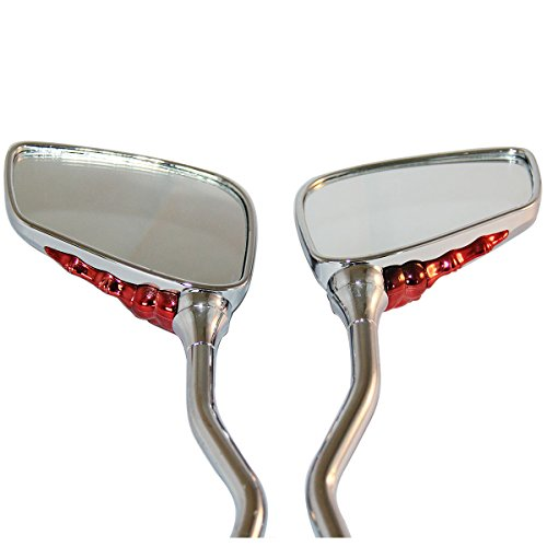 CHROME 3D RED SKULL HAND SKELLINGTON REARVIEW MOTORCYCLE MIRRORS FOR 2012 Hyosung GT250