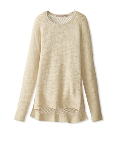 Cashmere Addiction Women's Mesh Back Boatneck Sweater