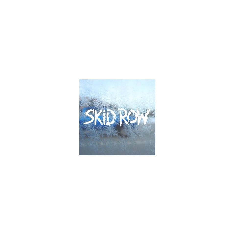 Skid Row White Decal Metal Rock Band Laptop Window White Sticker