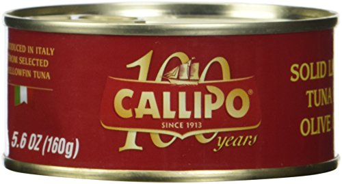 Italian Canned Tuna in Olive Oil Callipo 5.6 Oz (Pack of 4) (Canned Tuna In Olive Oil compare prices)