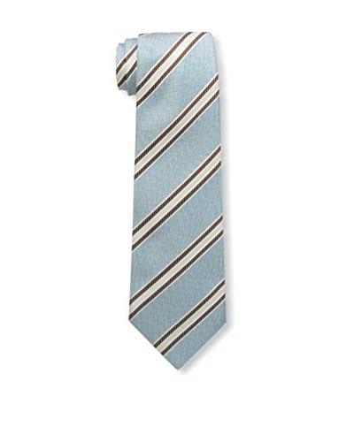 Kiton Men's Striped Tie, Blue/Brown