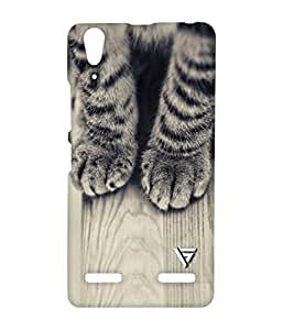 Vogueshell Cute Cat Legs Printed Symmetry PRO Series Hard Back Case for Lenovo A6000