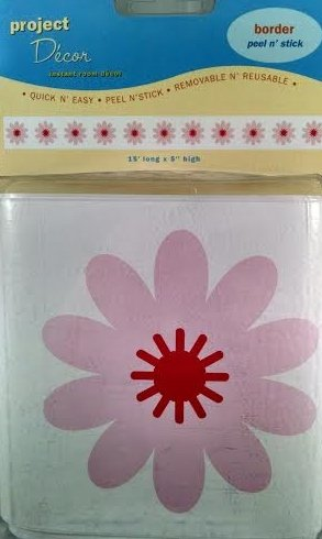 Project Decor Wall Peel N Stick Pink Flowers Border