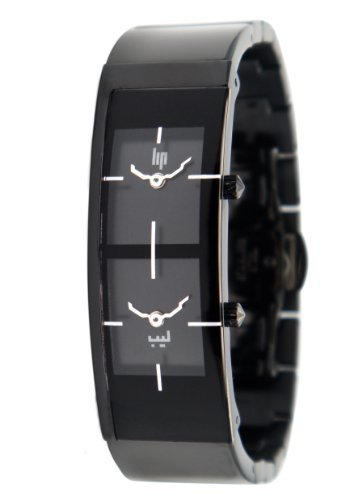 Lip Cr?ateur Ladies Lalla Metal Quartz Digital Watch 1872332 with Black Dial and Stainless Steel Case