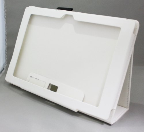 Homu HomuXperia Tablet Z SO-03E全11色PUレザーケース PUレザーカバー エクスペリアタブレットZ レザーケースレザーカバースタンド機能付 ペンホルダー付/SGP312JP (ホワイト)(24-8)