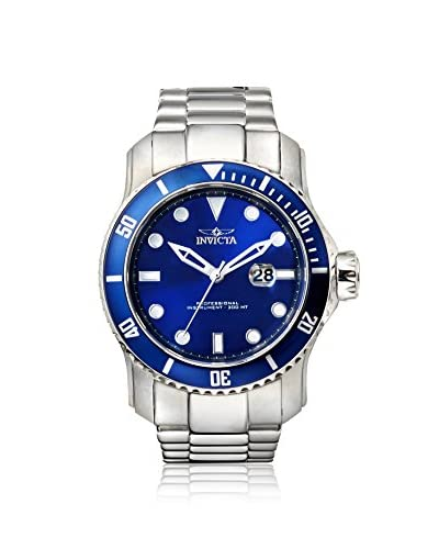 Invicta Men's 15076 Pro Diver Silver/Blue Stainless Steel Watch