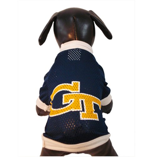 NCAA Georgia Tech Yellow Jackets Athletic Mesh Dog Jersey (Team Color, Small)