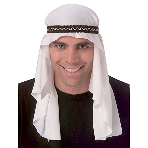 Arabian Mantle Headpiece Sheik Adult Costume Desert Prince Arab Sultan Hat