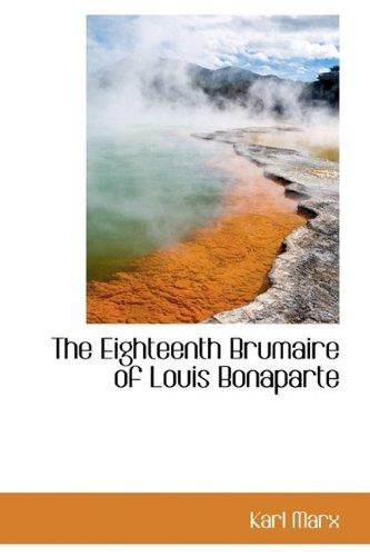 eighteenth brumaire of louis bonaparte pdf