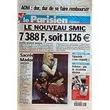 PARISIEN (LE) [No 17665] du 26/06/2001 - a.o.m., dur de se faire rembourser le nouveau smic concert de madonna...