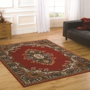 Element Lancaster Navy Contemporary Rug/Runner Size: 220cm x 160cm (7 ft 2.5 ... by Flair Rugs