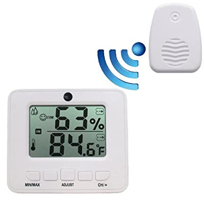 Ambient Weather WS-05 Easy-to-Read Wireless Adjustable Thermo-Hygrometer by Ambient Weather