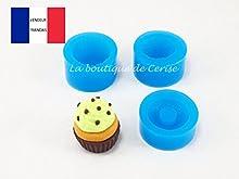 Molde silicona para cupcake para fimo, plastilina, resina, porcelana fría