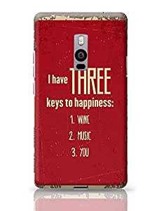 PosterGuy OnePlus Two Case Cover - Keys To Happiness | Designed by: Codeburnerz Technologies