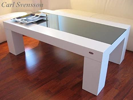 DESIGN COUCHTISCH Tisch V-465 weiß getöntes Glas Carl Svensson NEU