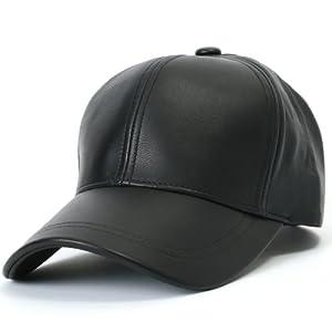 ililily Genuine Leather Precurved Bill Baseball Cap with Snapback (ballcap-575)