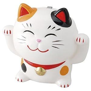 招き猫蚊遣器(ミケ・大) [高さ 17.7cm x 19cm] かわいい プレゼント 夏 風流
