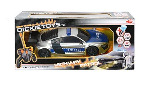 Dickie-Toys-201119059-RC-Highway-Patrol-funkferngesteuertes-Polizeiauto-inklusive-Batterien-28-cm