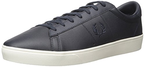 Fred Perry Men's Spencer Leather Fashion Sneaker, Porcelain/Navy, 8 UK/9 D US (Perry Shoes compare prices)