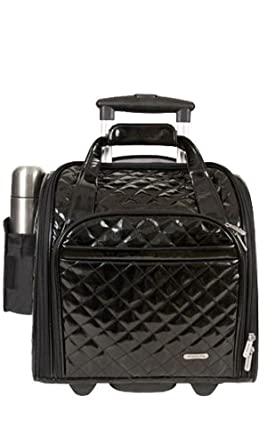 Travelon Luggage Wheeled Underseat Carry-On With Back-Up Bag In Quilted Microfiber