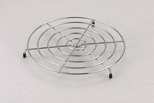 YBM Home Chrome Plated Steel Footed Wire Plate Steam Rack Trivet 2084