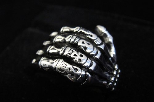 Men's 316L Stainless Steel Silver Skull Hand Ring for Hell Angels Harley Rider Motor Biker TR57 By Priority Mail (12)