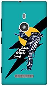The Racoon Grip Rock star hard plastic printed back case / cover for Nokia Lumia 925