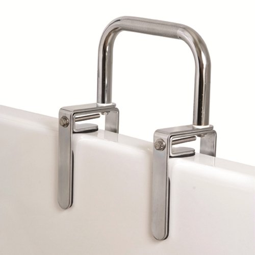 Carex Health Brands Bath Tub Rail with Chrome Finish
