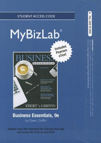 2012 MyBizLab with Pearson eText -- Access Card -- for Business       Essentials