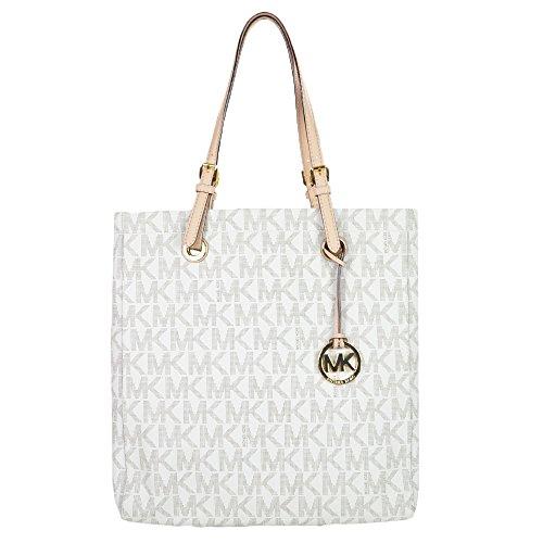 Michael Kors Pvc North South Tote Vanilla Handbag