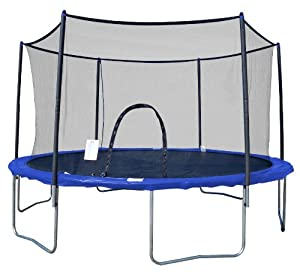 VARIFLEX AirZone 8 Foot Outdoor Spring Trampoline with Mesh Padded Perimeter Safety Enclosure at Sears.com