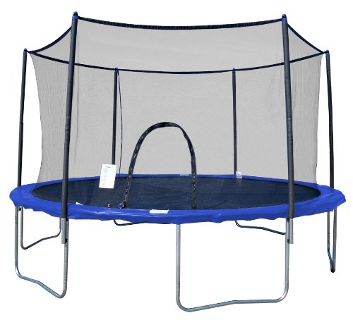 AirZone 8-Feet Outdoor Spring Trampoline with Mesh Padded Perimeter Safety Enclosure