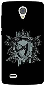 The Racoon Grip warrior crest hard plastic printed back case/cover for Vivo Y21