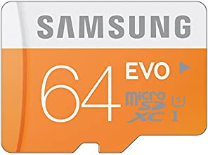 Samsung Electronics 64GB EVO Micro SDXC with Adapter Upto 48MB/s Class 10 Memory Card (MB-MP64DA/AM)