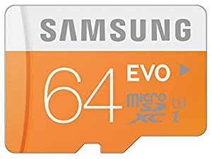 Samsung 64GB EVO Class 10 Micro SDXC up to 48MB/s with Adapter (MB-MP64DA/AM)