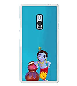 ifasho Lord Krishna stealing curd animated Back Case Cover for OnePlus 2