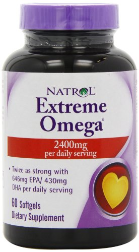 Natrol Extreme Omega Fish Oil - Pack of 60 Softgels