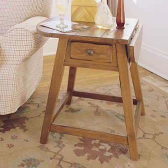 Cheap Broyhill Attic Heirlooms Leg End Table in Natural Oak (3397-05)