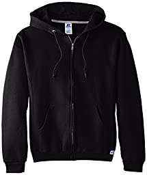 Russell Athletic Men\'s Dri-Power Hooded Zip-up Fleece Sweatshirt, Black, XXX-Large