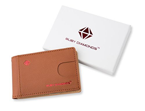 Ruby Diamonds Fashion Wallet For Men – Bifold Slim Leather Money Clip Wallet