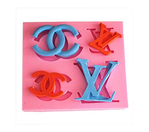 longzang Art Deco Moule en silicone sucre Craft DIY en gâteau décoration argile
