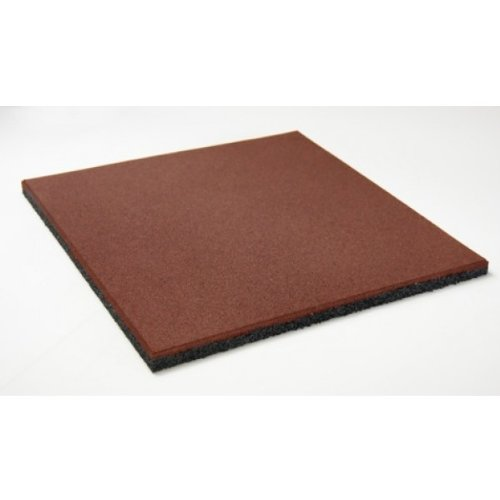 Soft & Safe Rubber Safety Mat Set - 1 sqm - 40mm thick - red