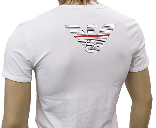 (エンポリオアルマーニ)EMPORIO ARMANI Tシャツ Vネック 110810-6P725-00010 ホワイト/白 [並行輸入品]